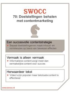 Infographic SWOCC 70 - Contentmarketing
