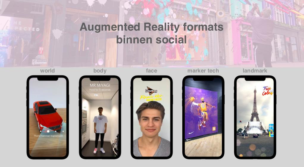 Augmented reality binnen social